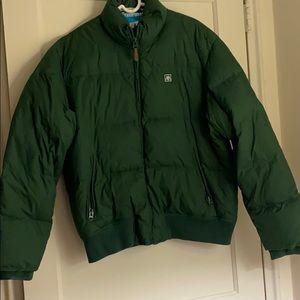 Aeropostale men's green puffer  jacket